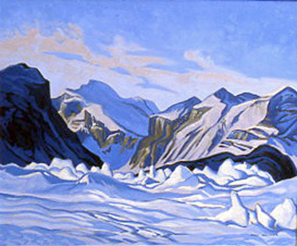 Landscape Painting - Ice Hummocks Pangnirtung Fiord by Paul Gauthier