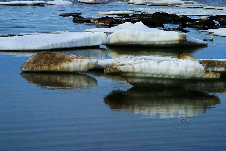 Ice Photograph - Ice In The Arctic by Anthony Jones