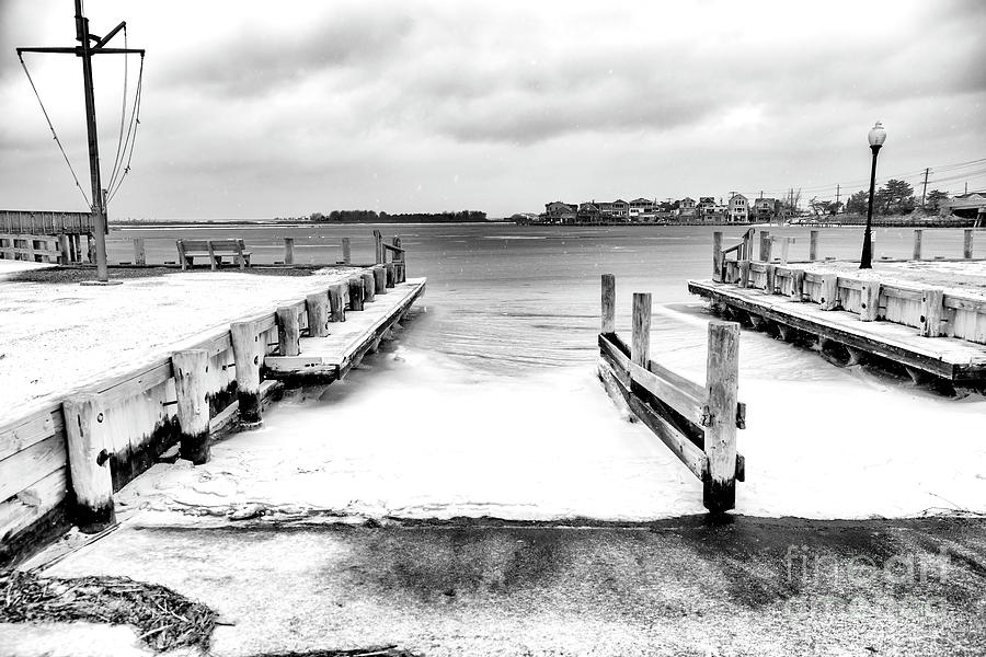 Bay Photograph - Ice In The Bay At Long Beach Island by John Rizzuto