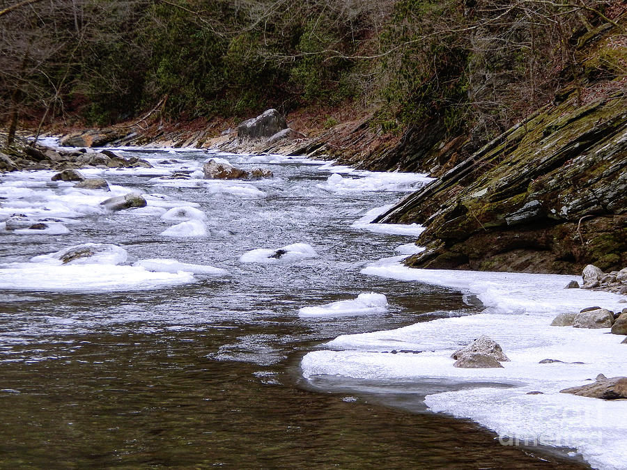 Ice Photograph - Ice In The River by Phil Perkins