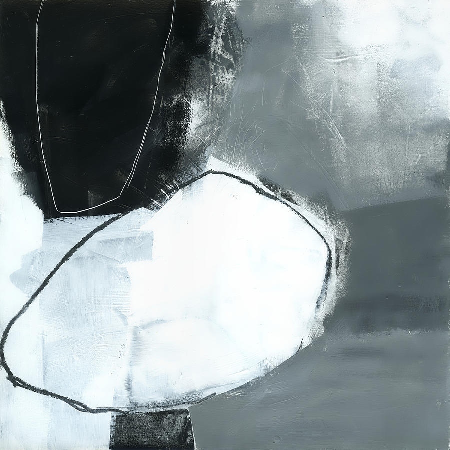 Abstract Painting - Ice Jam #1 by Jane Davies