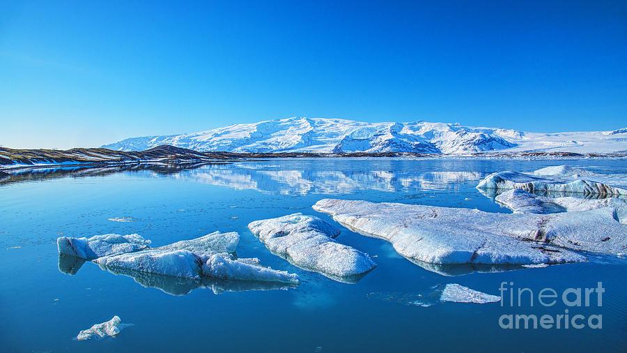 Ice Lagoon Iceland Photograph