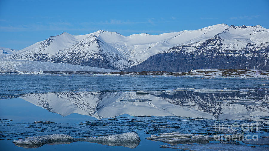 Ice Lagoon Reflections Iceland Photograph