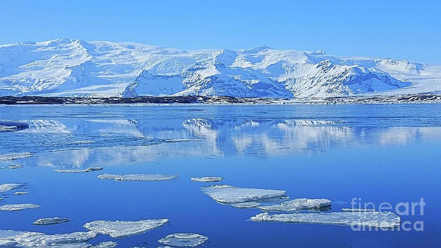Ice Lake Iceland Photograph