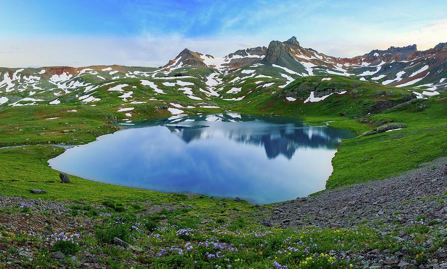 San Juan Mountains Photograph - Ice Lake Panorama by Johnny Adolphson