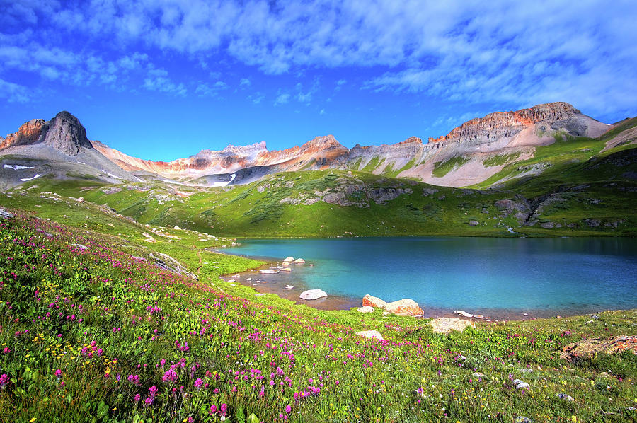 Ice Photograph - Ice Lakes Basin  by David Ross