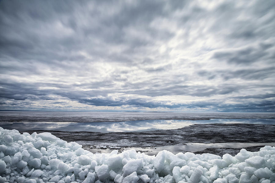 Ice Photograph -  Ice on Lake Nipissing by Brian Boudreau