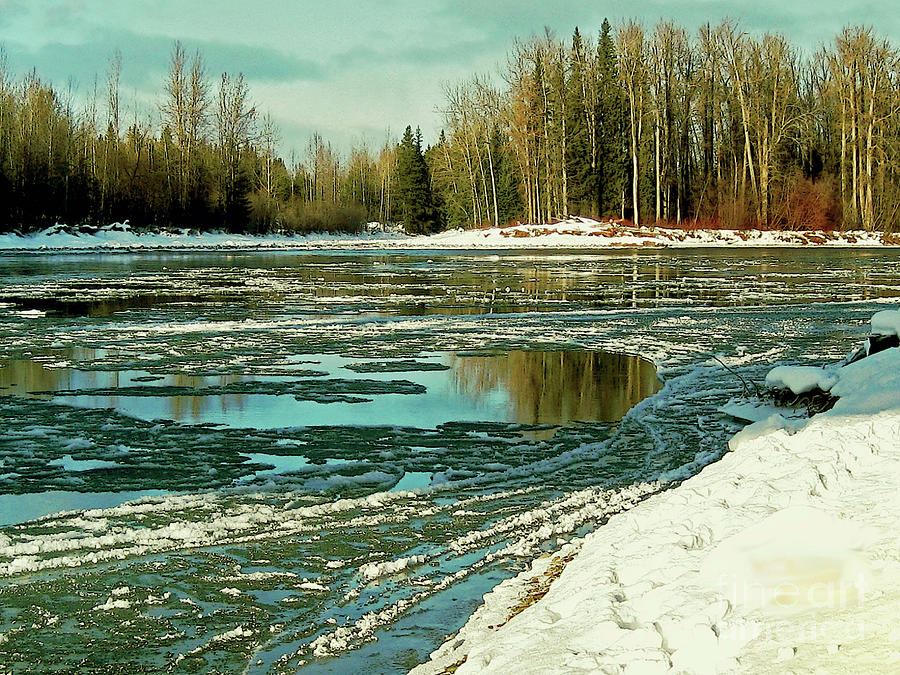 Ice on the Telkwa River by Anne Havard