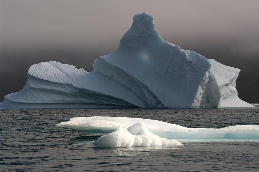 Iceberg Photograph - Ice Pinacle by Elisabeth Van Eyken