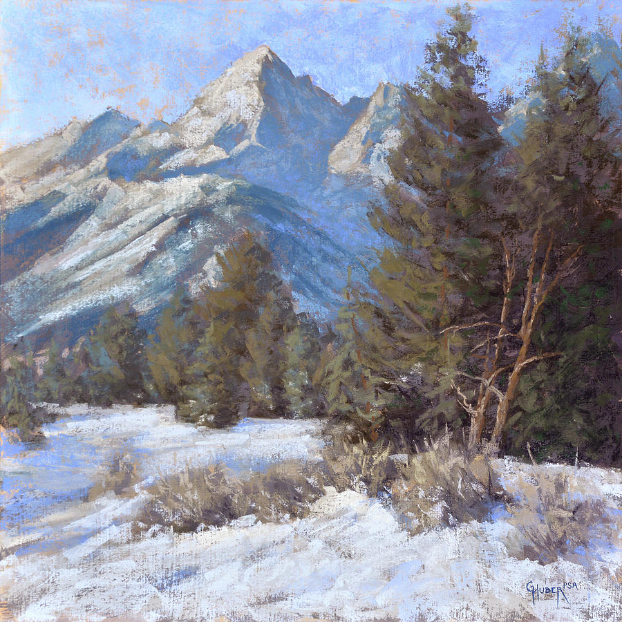 Tetons Painting - Ice Sculpture by Gary Huber