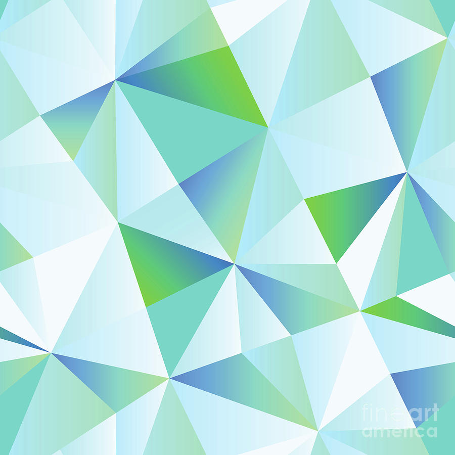 Ice Shards Abstract Geometric Angles Pattern Digital Art By Tina Lavoie