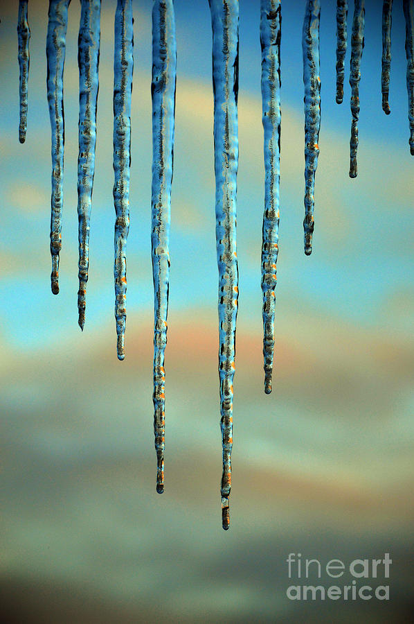 Ice sickles - Winter in Switzerland  by Susanne Van Hulst