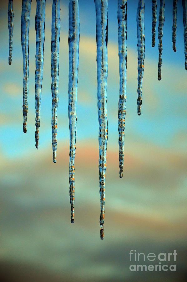 Ice sickles - Winter in Switzerland  by Susanne Van Hulst