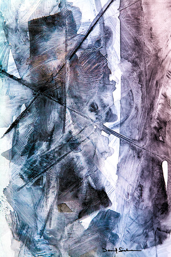 Abstract Painting - Ice Textures by Dan Sisken