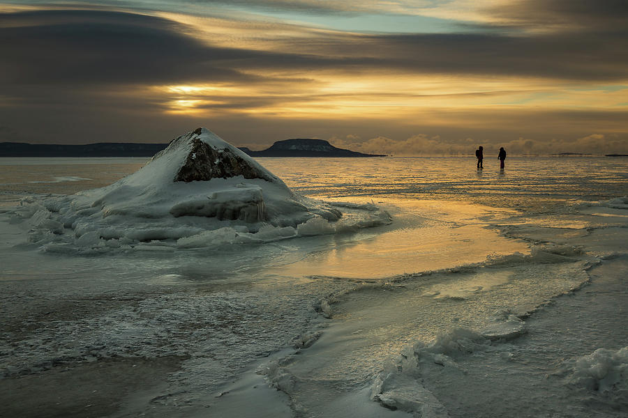 Aboriginal Photograph - Ice Trail Hikers by Jakub Sisak