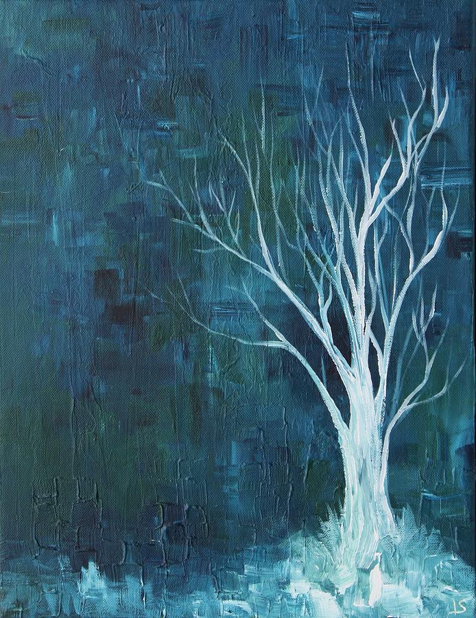 Ice Painting - Ice Tree by Lisa Stevens