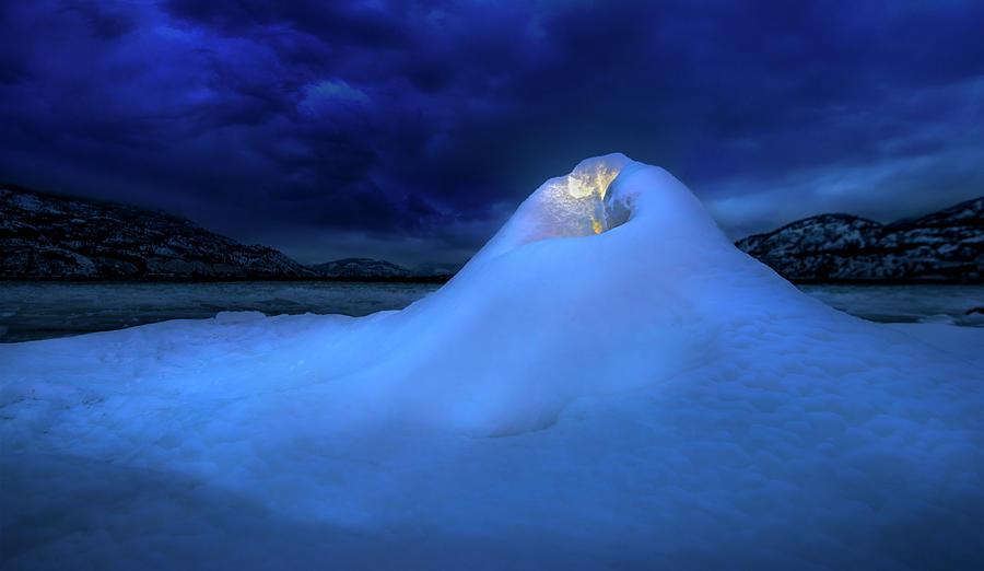 Ice Volcano Photograph