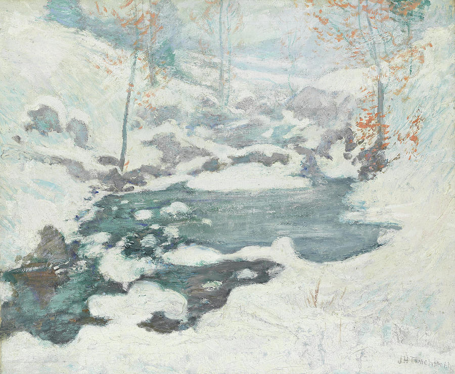 4af16d0bb0998 Icebound Painting by John Henry Twachtman