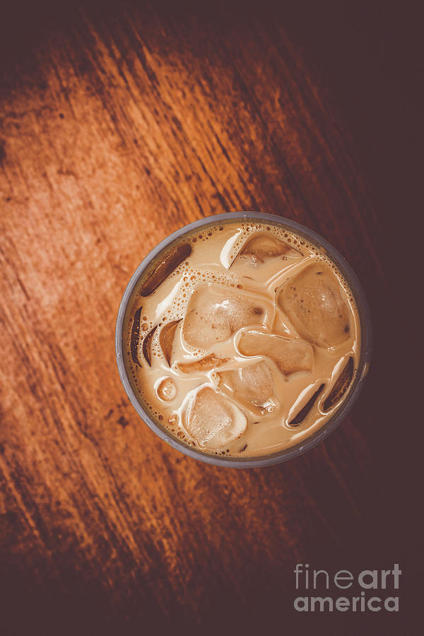 Drink Photograph - Iced Coffee Beverage On Copy Space by Jorgo Photography - Wall Art Gallery