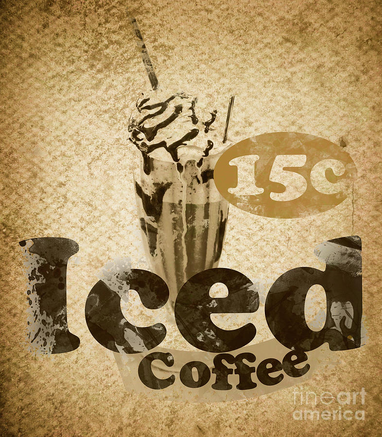 Iced Coffee Cafe Tin Sign Photograph by Jorgo Photography - Wall Art ...