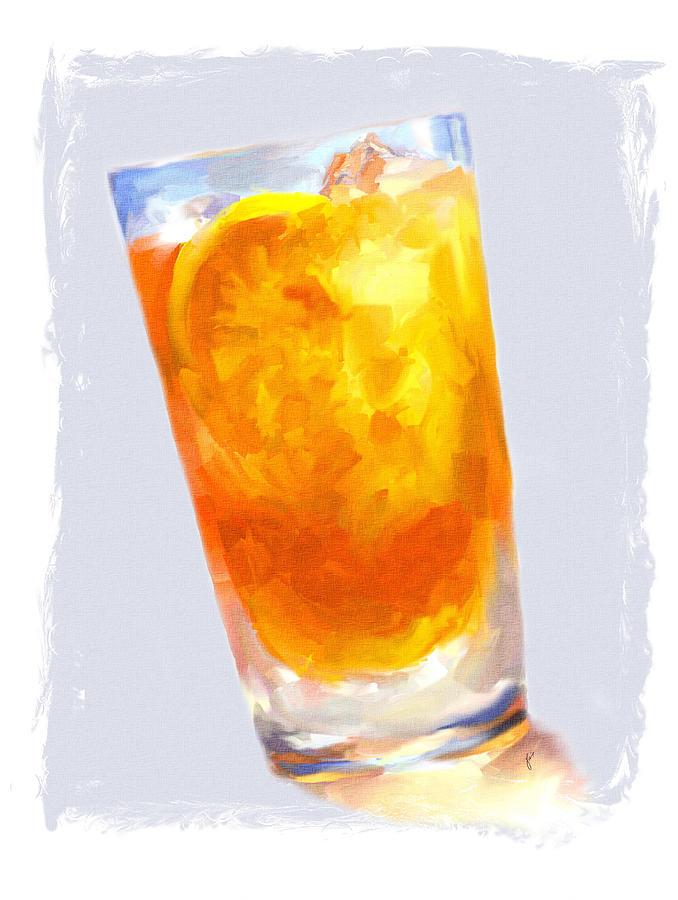 Iced Tea Painting - Iced Tea by Jai Johnson