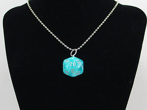 Blue Jewelry - Icefall D20 Necklace by World of Dice
