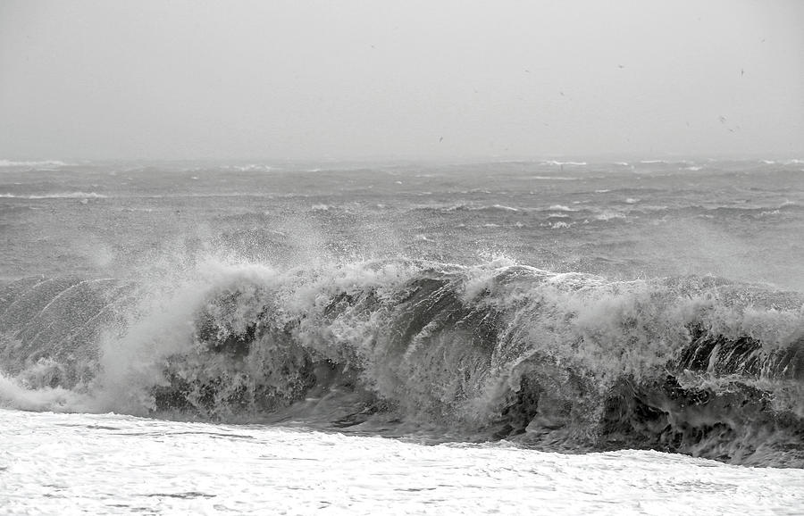 Iceland Photograph - Iceland Black Sand Beach Wave Five by Betsy Knapp