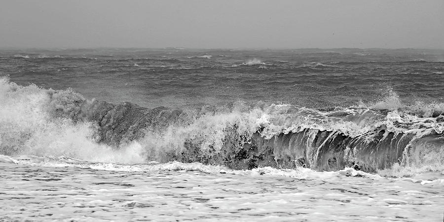 Iceland Photograph - Iceland Black Sand Beach Wave One  by Betsy Knapp