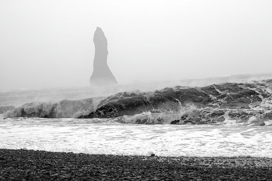 Iceland Photograph - Iceland Black Sand Beach Wave Two by Betsy Knapp