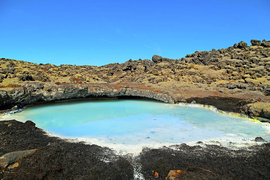Iceland Photograph - Iceland Blue Lagoon Exploring The Lava Fields by Betsy Knapp