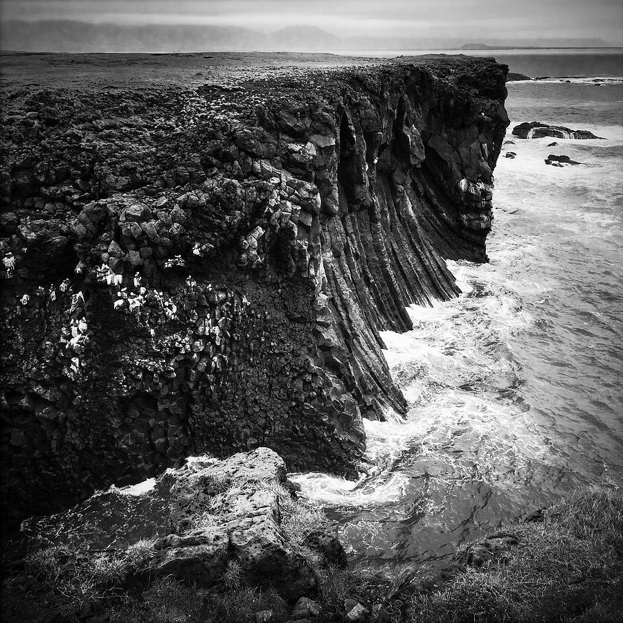 Iceland Photograph - Iceland coast black and white by Matthias Hauser