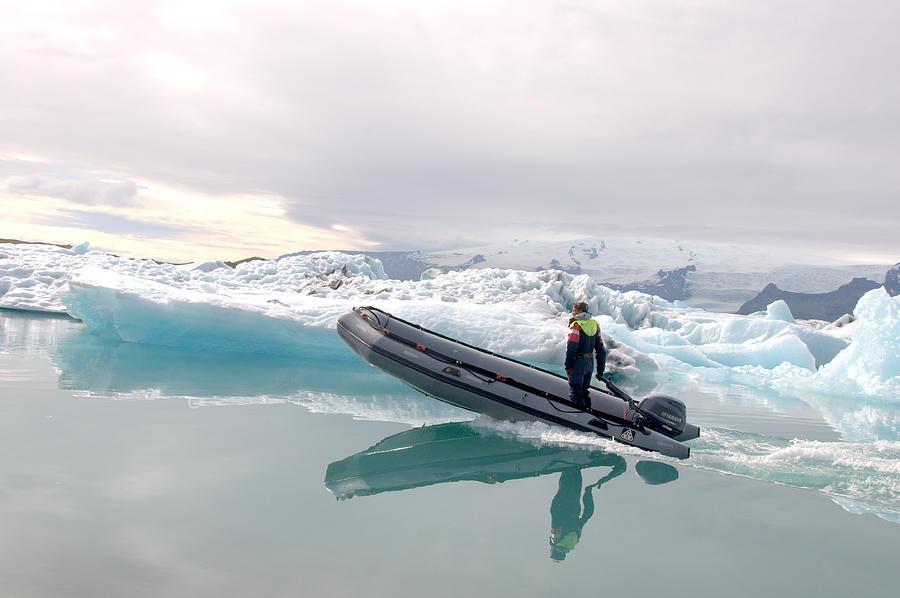 Iceland Photograph - Iceland Glacier Lagoon by Ambika Jhunjhunwala