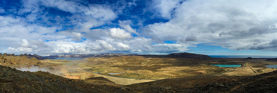 Iceland Photograph - Iceland panorama image geothermal area by Matthias Hauser