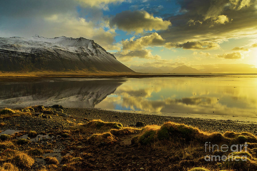 Iceland Photograph - Iceland Sunrise Tranquility Reflection by Mike Reid