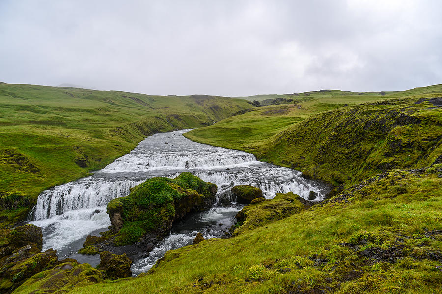 Iceland Photograph - Icelandic Cascade by Alex Blondeau