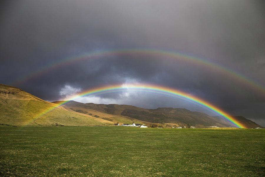 Photo Photograph - Icelandic Rainbows by Ryan Stoddard