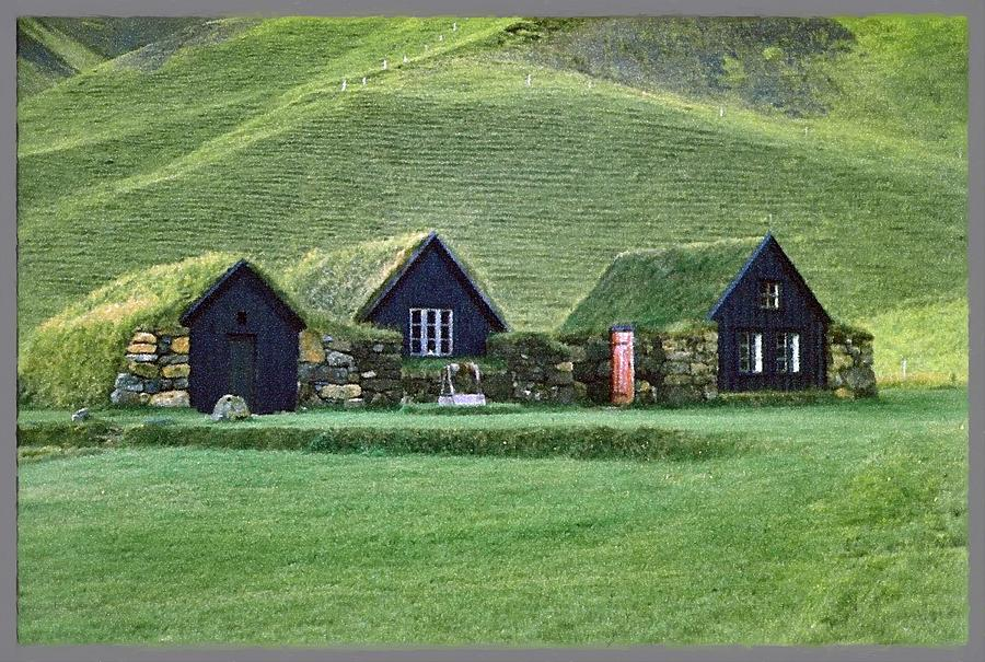 Iceland Photograph - Icelandic Turf Homes by Mario Carini