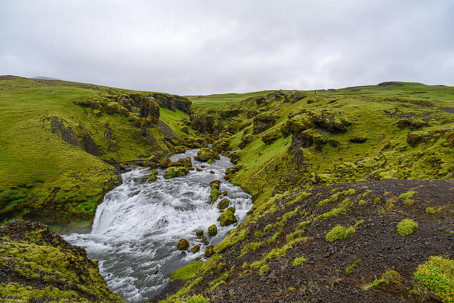 Iceland Photograph - Icelandic Waterfall by Alex Blondeau