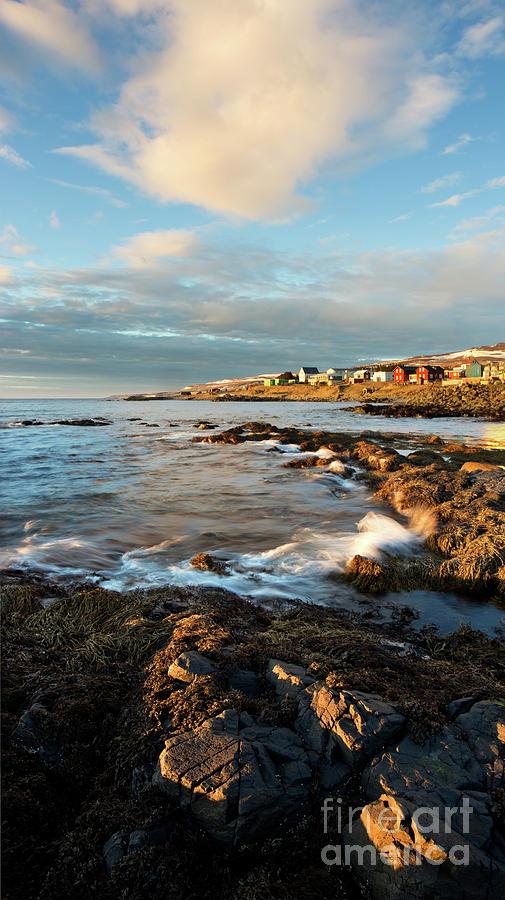 Hvammstangi Photograph - Icelands Hvammstangi Harbor at Sunset by Matt Tilghman