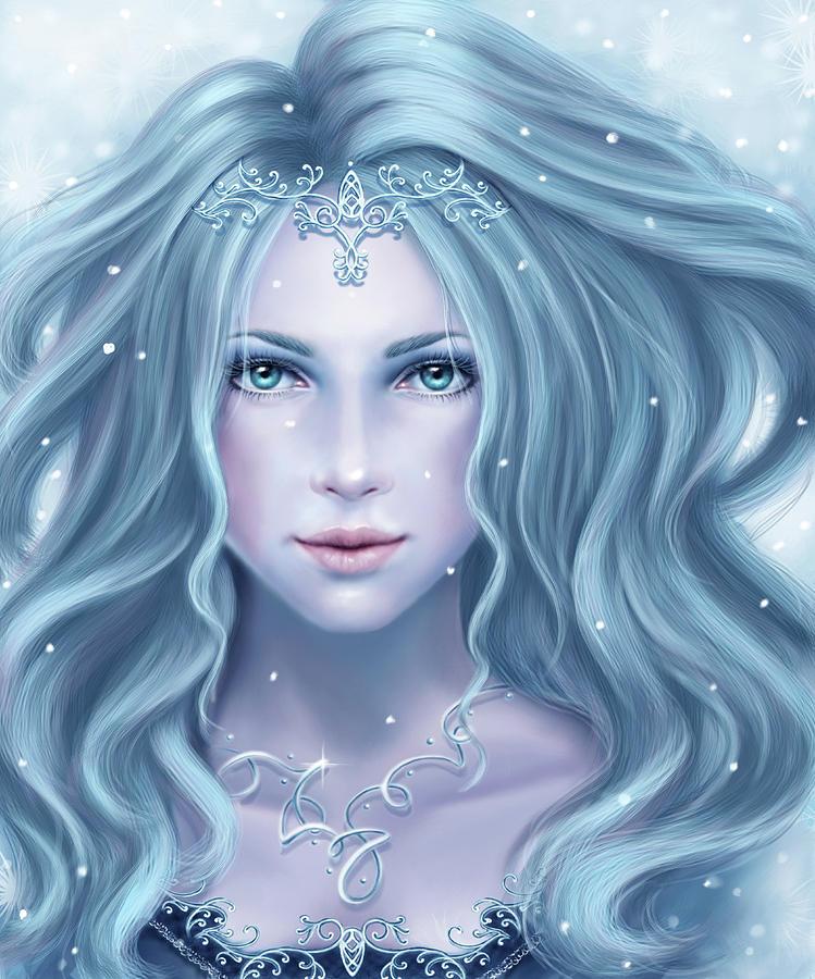 Iceprincess Digital Art by Tatjana Willms