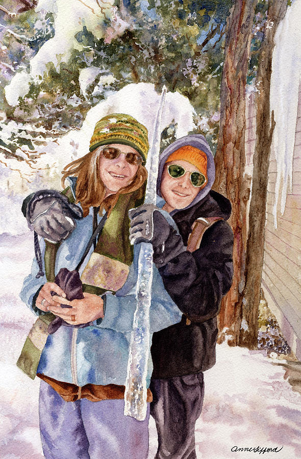 Self Portrait Painting Painting - Icicle by Anne Gifford
