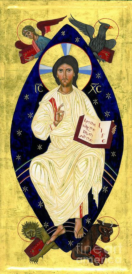 Icon Painting - Icon Of Christ In Glory by Juliet Venter