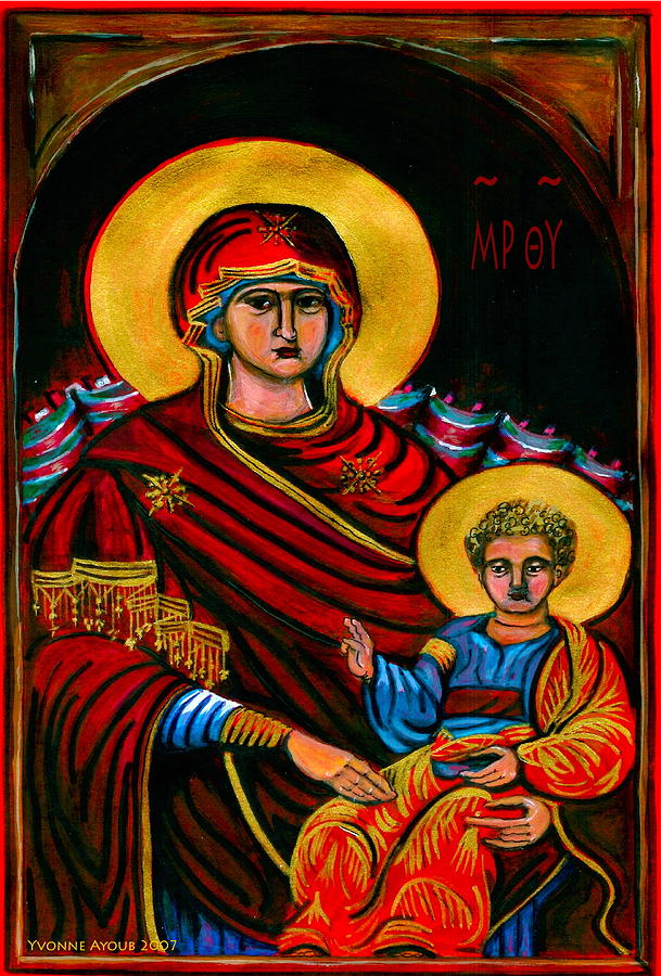 Icon Painting - Icon  by Yvonne Ayoub
