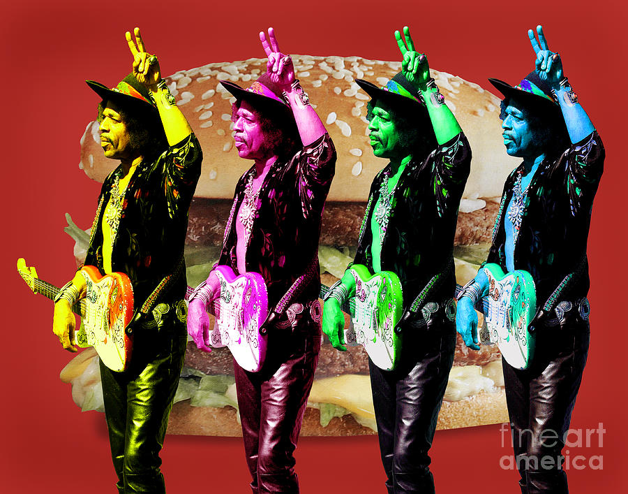 Jimi Digital Art - Iconic Experience by Keith Dillon