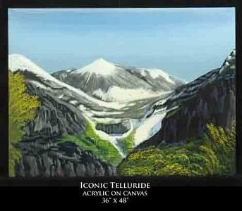 Landscape Painting - Iconic Telluride by Robert Newport