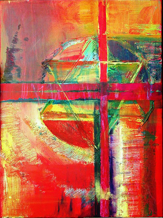 Abstract Painting - Iconography by Jillian Goldberg