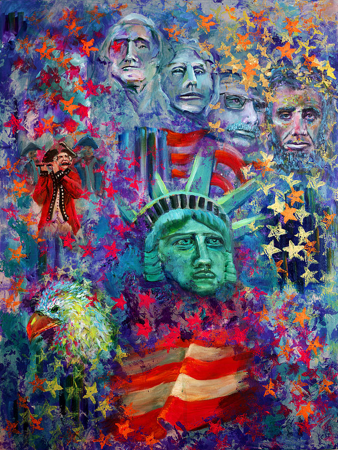 Liberty Painting - Icons Of Freedom by Peter Bonk