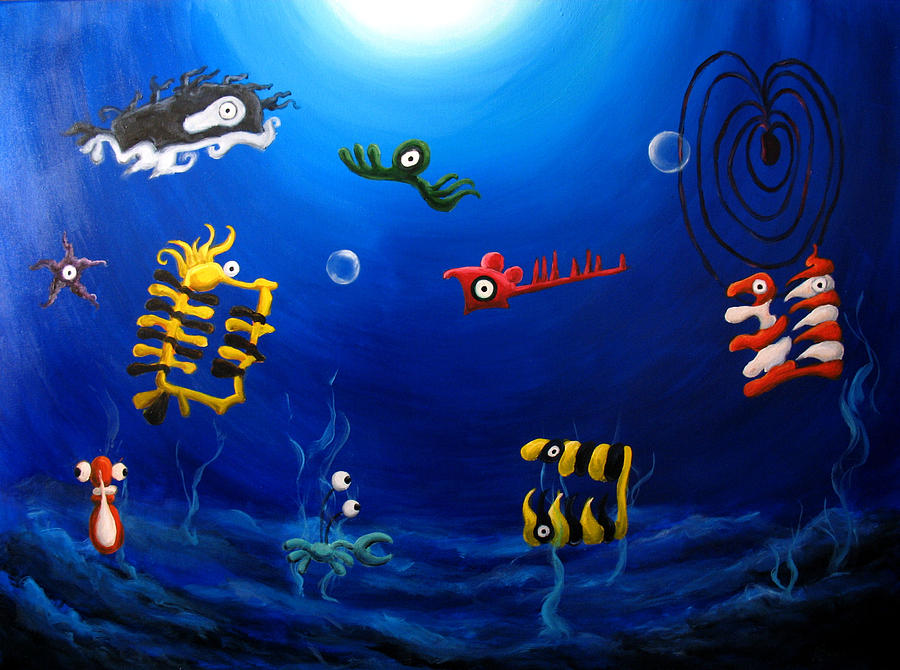 Underwater Painting - Icthylogy No.9 by Michelle Barone