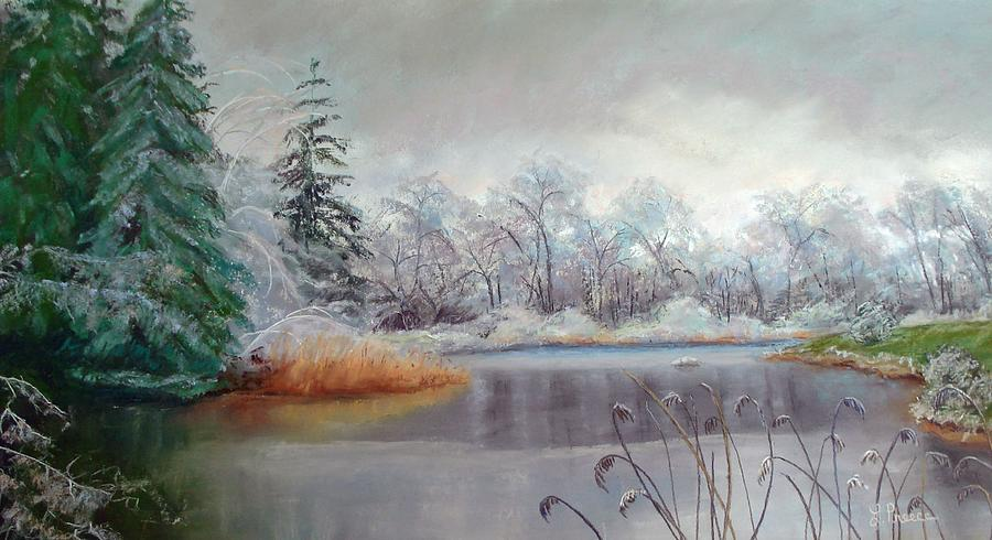 Ice Painting - Icy Connecticut Morning by Linda Preece