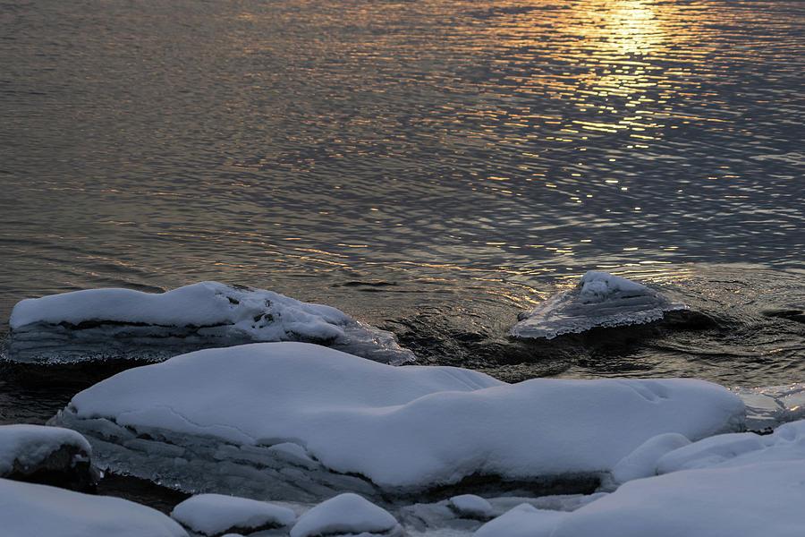 Rock Photograph - Icy Islands - by Georgia Mizuleva